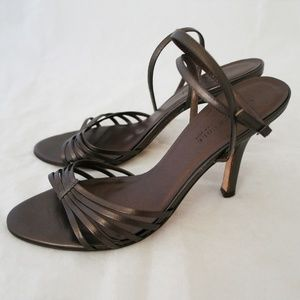 Kenneth Cole Metallic Brown Leather Sandals 9/10